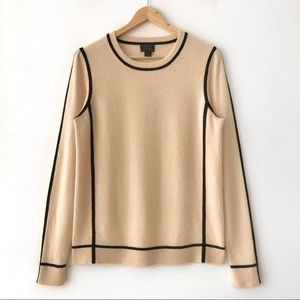 J.Crew Collection 100% Cashmere Framed Sweater